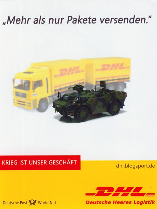 """Deutsche Heeres Logistik (DHL): \""""Mehr als nur Pakete versenden\"""""""