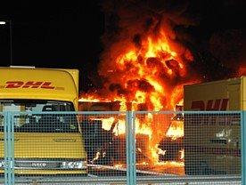 DHL in Berlin angegriffen im Juni 2009